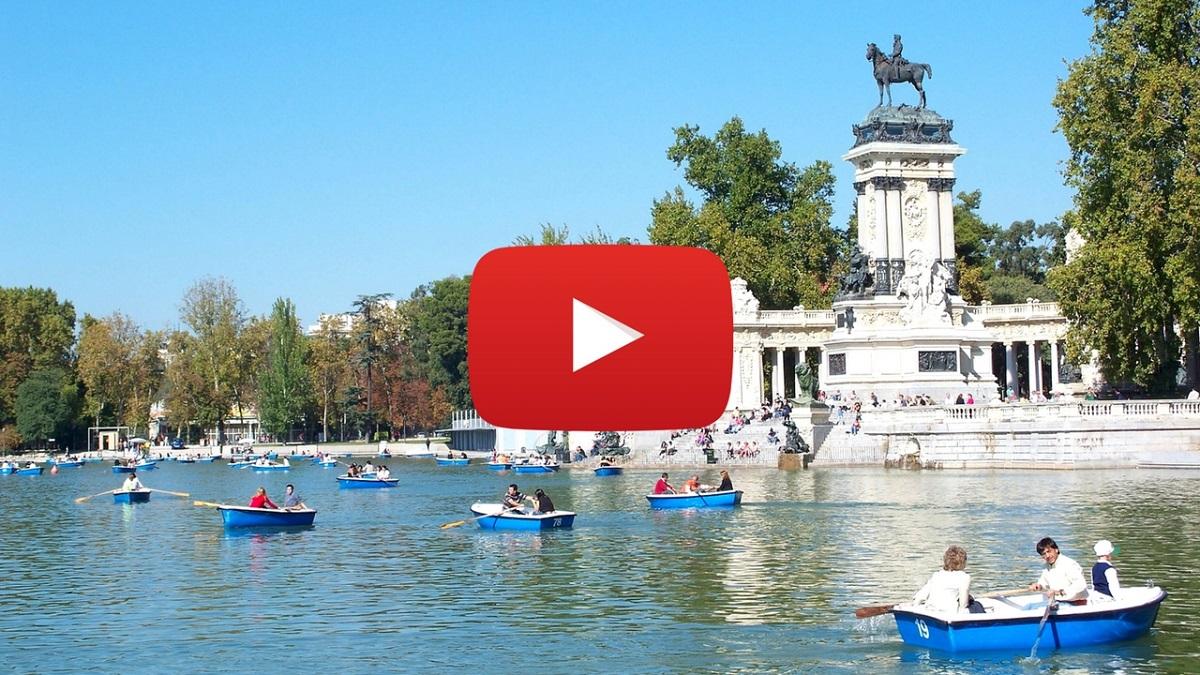 360 video: El Retiro Park, Madrid, Spain